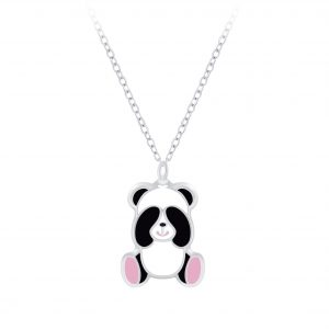 Wholesale Silver Panda Necklace