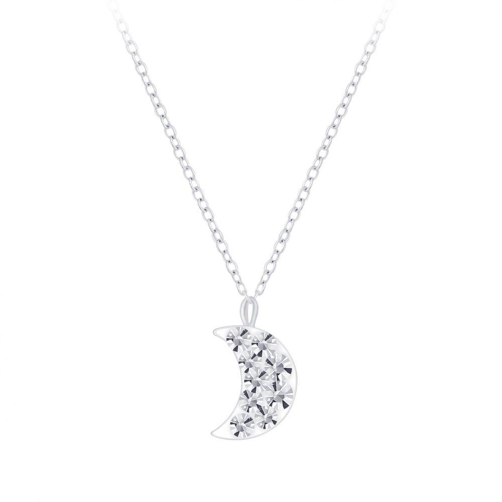 Wholesale Silver Moon Necklace