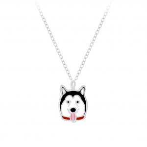 Wholesale Silver Dog Necklace