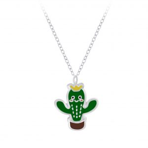 Wholesale Silver Cactus Necklace
