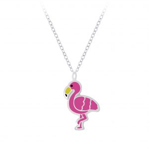 Wholesale Silver Flamingo Necklace