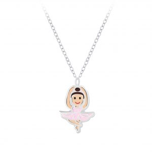 Wholesale Silver Ballerina Necklace