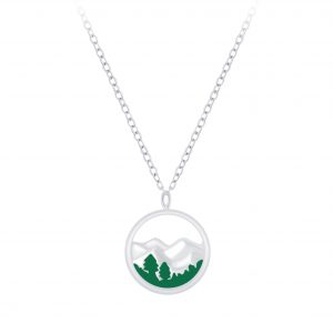 Wholesale Silver Mountain Necklace