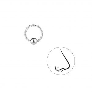 Wholesale 8mm Silver Twisted Continuous Ring