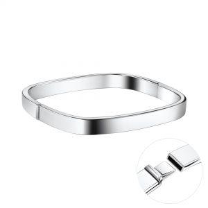 Wholesale 7mm Square Silver Bangle