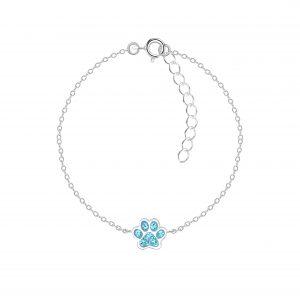Wholesale Silver Paw Print Bracelet
