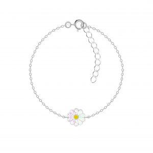 Wholesale Silver Daisy Flower Bracelet