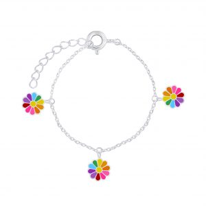 Wholesale Silver Daisy Flower Bracelet