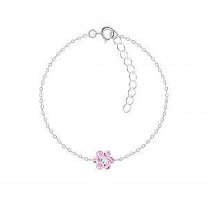 Wholesale Silver Flower Bracelet