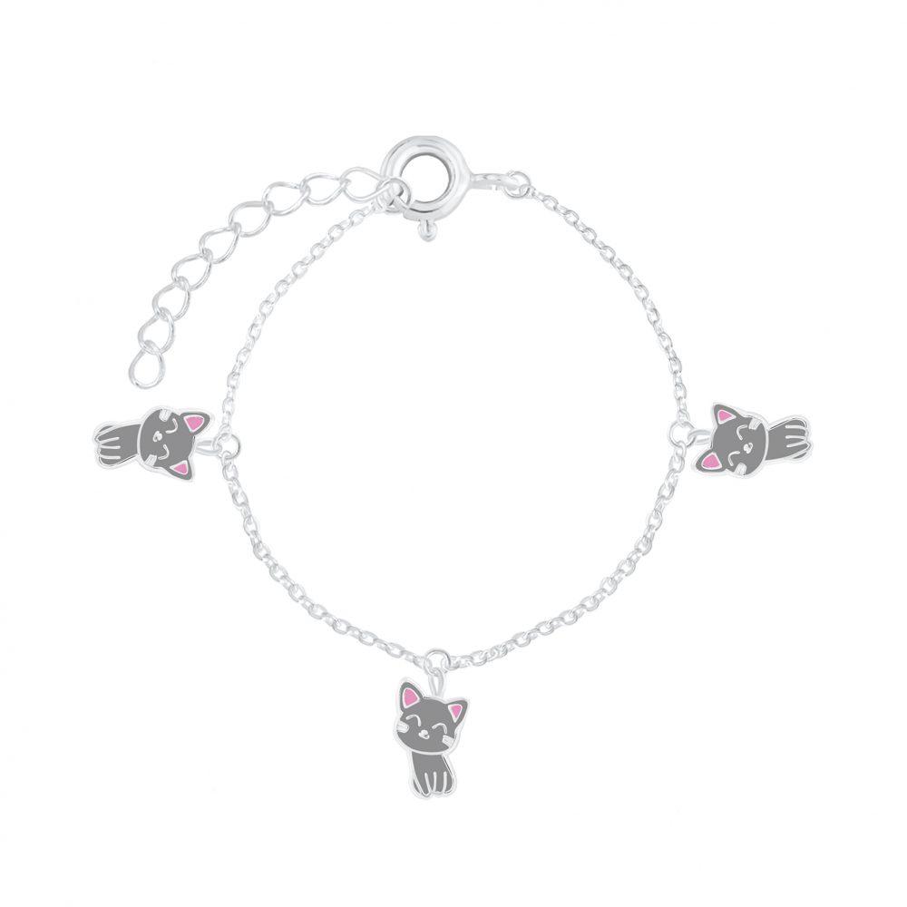 Wholesale Silver Cat Bracelet