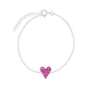 Wholesale Silver Heart Crystal Bracelet