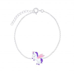 Wholesale Silver Winged Unicorn Bracelet