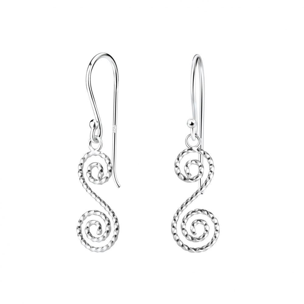 Wholesale Silver Spiral Earrings