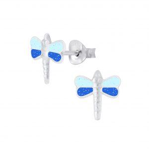 Wholesale Silver Dragonfly Stud Earrings