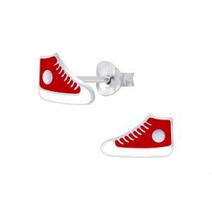 Wholesale Silver Sneaker Stud Earrings