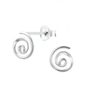 Wholesale Silver Spiral Stud Earrings