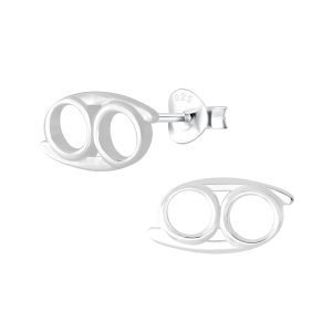 Wholesale Silver Cancer Zodiac Sign Stud Earrings