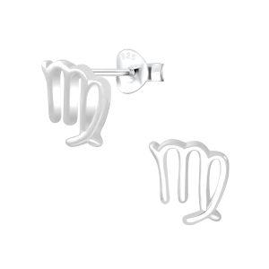 Wholesale Silver Virgo Zodiac Sign Stud Earrings
