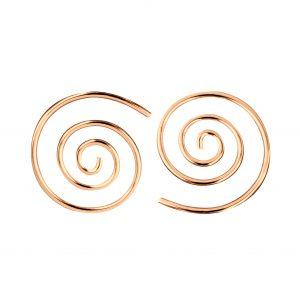 Wholesale Silver Swirl Hoop Earrings