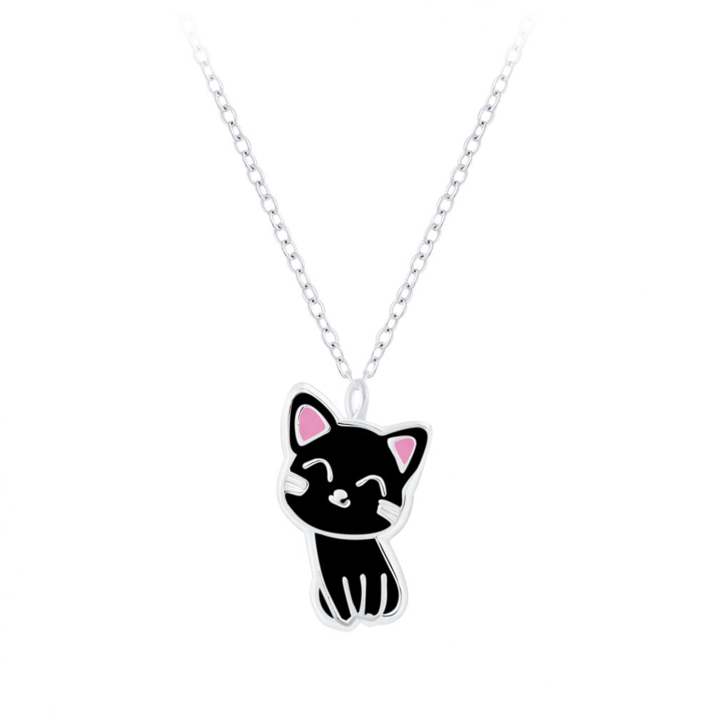 Wholesale Silver Cat Necklace
