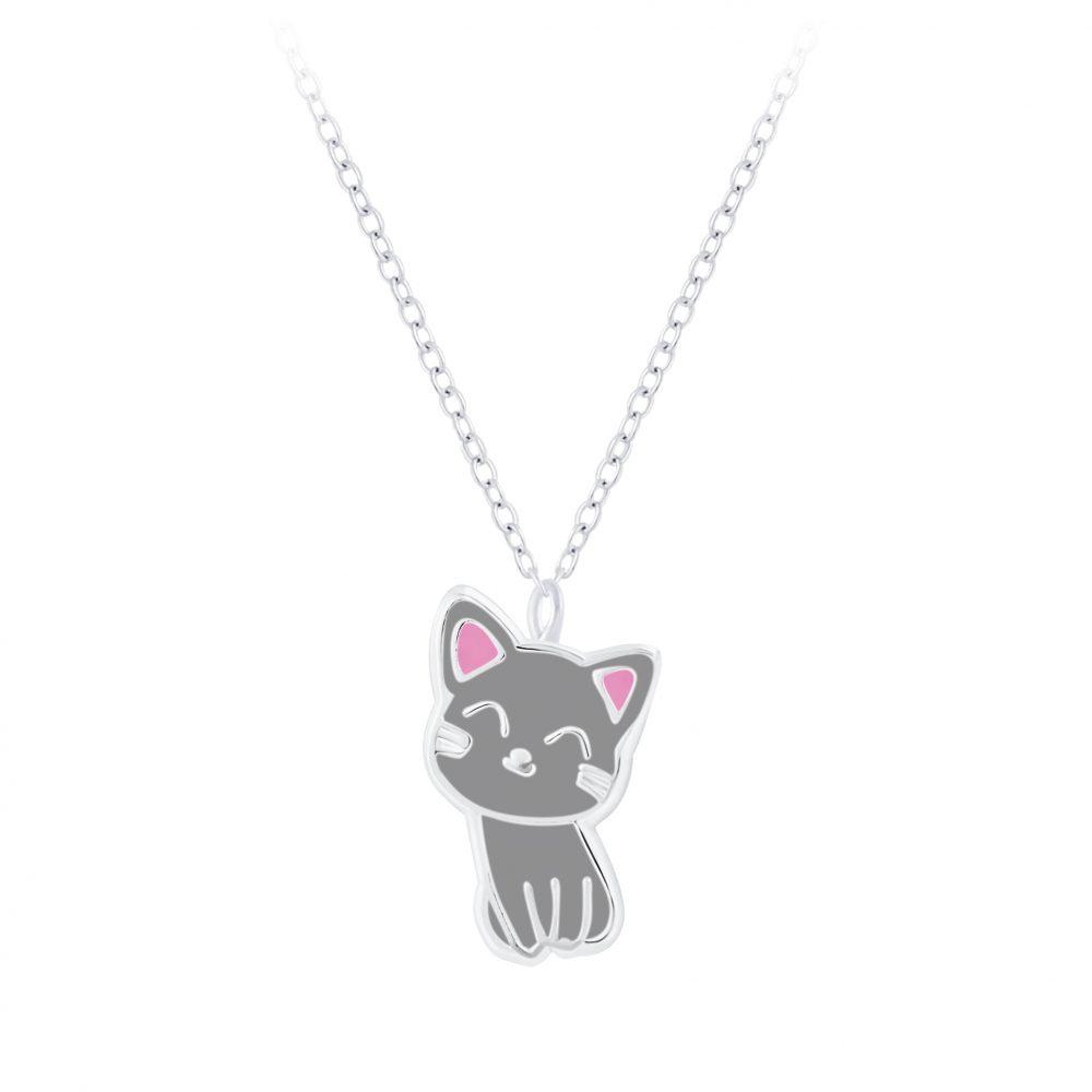 Wholesale Silver Cat Necklace