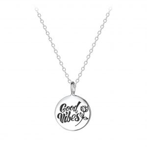 Wholesale Silver Good Vibes Necklaces