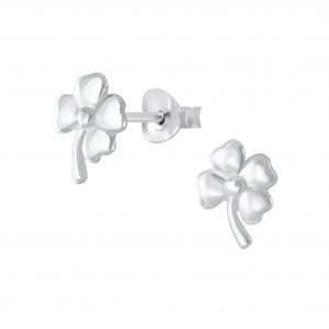 Wholesale Silver Clover Stud Earrings