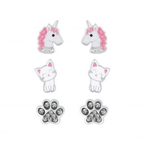 Wholesale Silver Best Seller Kids Stud Earrings Set