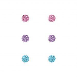 Wholesale Silver Crystal Ball Stud Earrings Starter Set