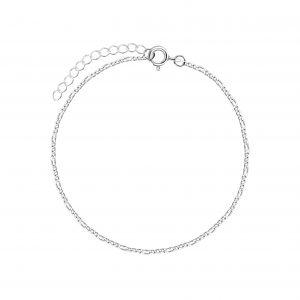 Wholesale 18cm Silver Figaro Bracelet