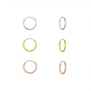 Wholesale 12mm Silver Hoop Earrings Set