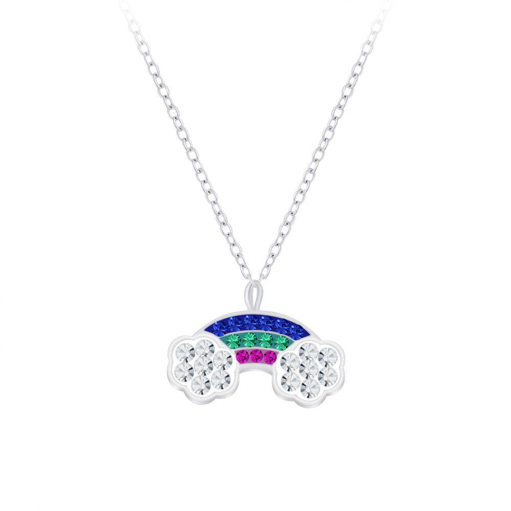 Wholesale Silver Rainbow Necklace