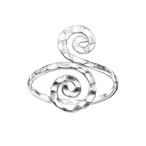 Wholesale Silver Spiral Ring