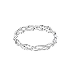 Wholesale Silver Braided Ring
