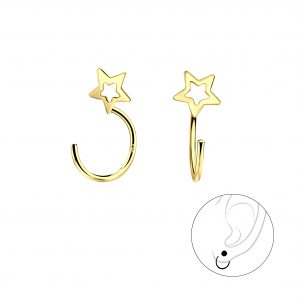 Wholesale Silver Star Ear Huggers
