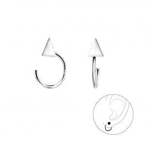 Wholesale Silver Triangle Ear Huggers