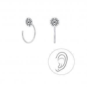 Wholesale Silver Round Ear Huggers
