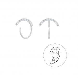 Wholesale Silver Curved Ear Huggers