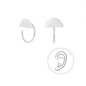 Wholesale Silver Semi Circle Ear Huggers