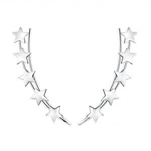 Wholesale Silver Star Ear Climbers