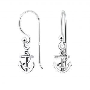 Wholesale Silver Anchor Earrings