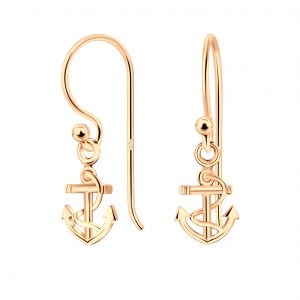 Wholesale Silver Anchor Earrings