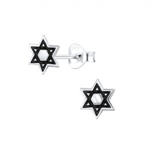 Wholesale Silver Star of David Stud Earrings