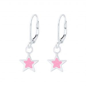 Wholesale Silver Star Lever Back Earrings