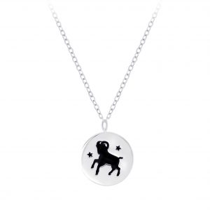 Wholesale Silver Aries Zodiac Sign Necklace