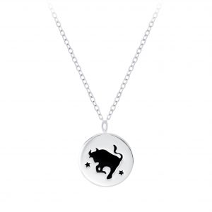 Wholesale Silver Taurus Zodiac Sign Necklace