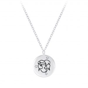Wholesale Silver Gemini Zodiac Sign Necklace