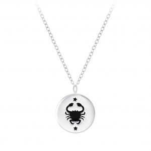 Wholesale Silver Cancer Zodiac Sign Necklace