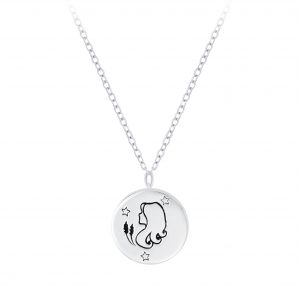 Wholesale Silver Virgo Zodiac Sign Necklace