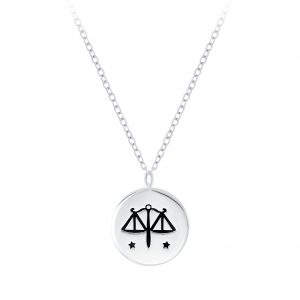 Wholesale Silver Libra Zodiac Sign Necklace